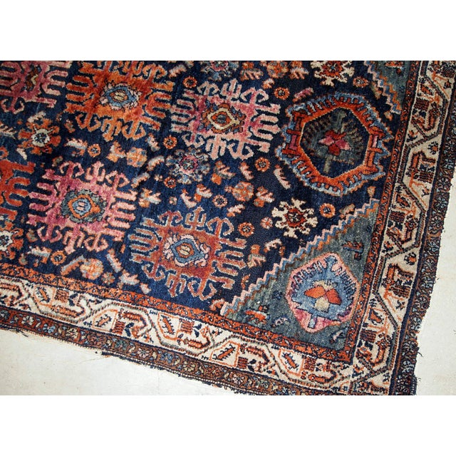 Textile 1910s, Handmade Antique Persian Malayer Rug 4.1' X 6.3' For Sale - Image 7 of 11