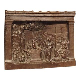 19th Century Bronze Plaque, The Legend of Gaius Mucius Scaevola For Sale