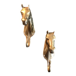1970s Vintage Equestrian Coat Hooks - A Pair For Sale