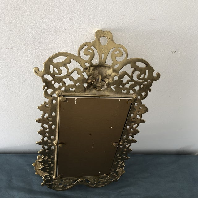 Glass 1950s Gold Gilded French Art Nouveau Mirror Wall Sconces For Sale - Image 7 of 8