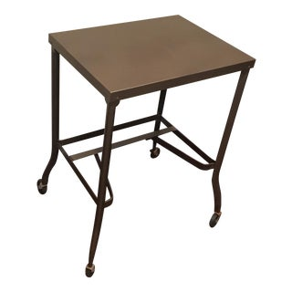 Vintage Bronze Typing Table