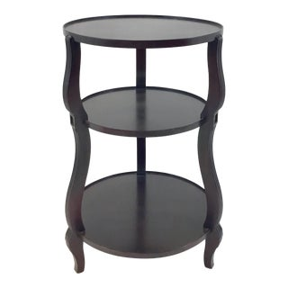 Hickory Chair Dark Wood Atelier Three Tier Accessory Table For Sale