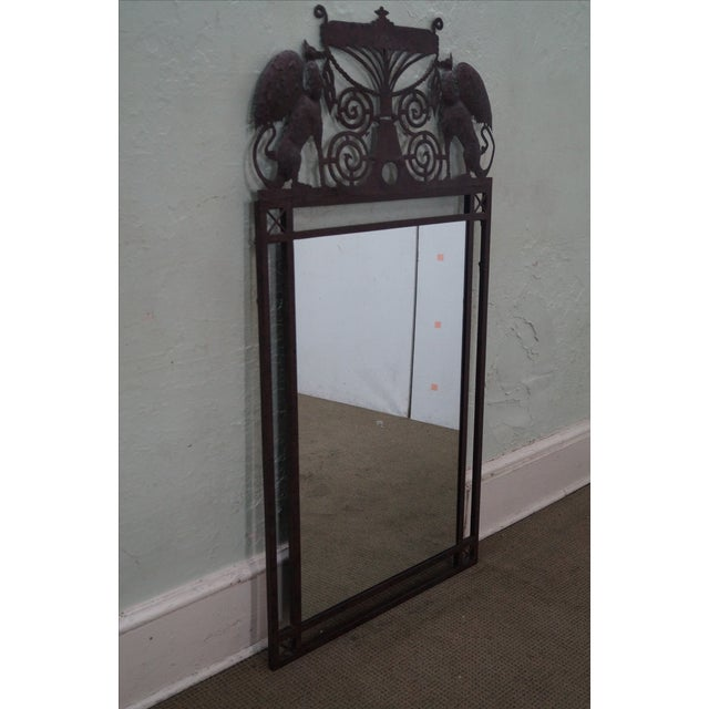 Medieval Gothic Custom Iron Frame Wall Mirror - Image 5 of 10