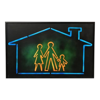 Giclee Oil Neon Print For Sale