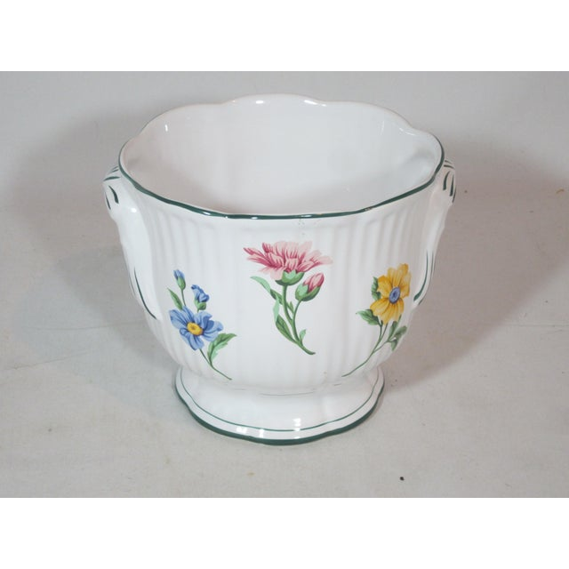 Boho Chic Vintage Tiffany & Company Floral Cachepot For Sale - Image 3 of 6
