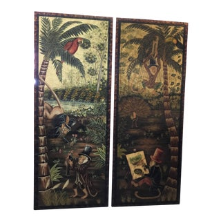 Vintage Maitland-Smith Wall Panels - A Pair For Sale
