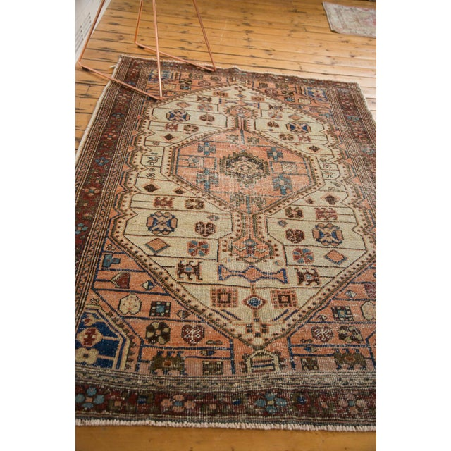 """Vintage Distressed Malayer Rug - 4'4"""" X 6'3"""" For Sale - Image 9 of 12"""