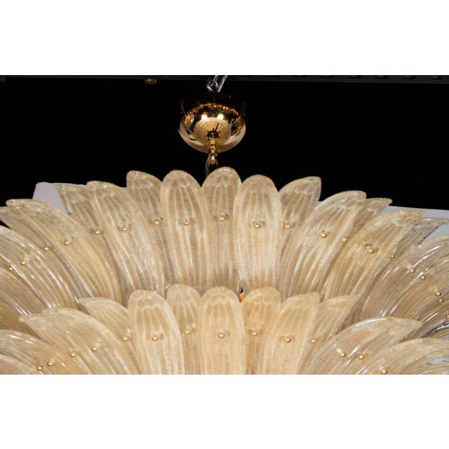 Exquisite Five-Tier Handblown Champagne Murano Glass Palma Chandelier For Sale In New York - Image 6 of 9