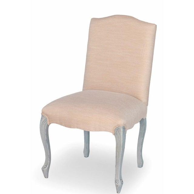 Sarreid LTD 'Vendome' Cream & Blue Chair - Image 2 of 4