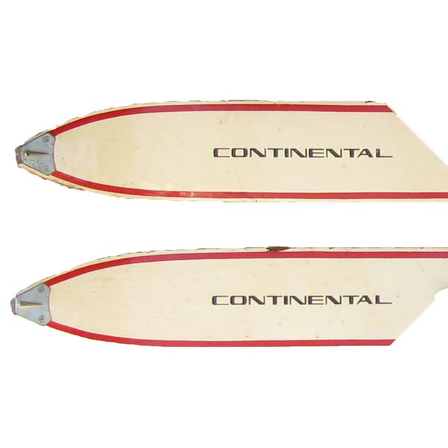 Vintage Child's Wood Snow Skis, a Pair For Sale - Image 4 of 6