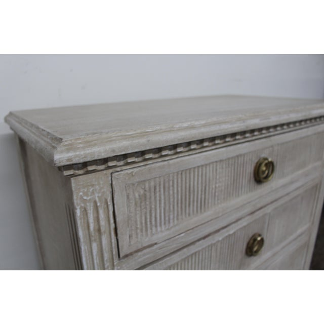 Metal 20th Century Vintage Swedish Gustavian Style Nightstands-A Pair For Sale - Image 7 of 11