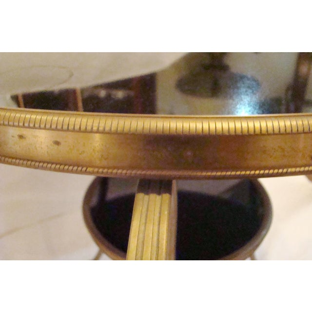 Brass French Gueridon Side Tables - A Pair For Sale - Image 7 of 10