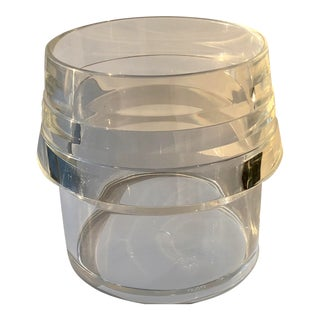 Alfio DI Bella Lucite Champagne Ice Bucket- Wine Cooler For Sale