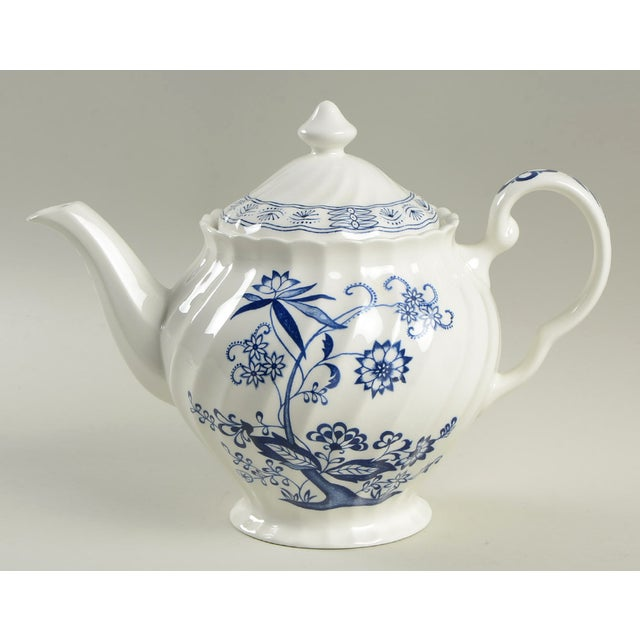 Ceramic Johnson Brothers Blue Nordic Teapot & Lid For Sale - Image 7 of 7