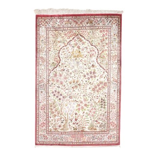 "Pasargad Persian Silk Qum Rug - 4'3"" X 6'7"" For Sale"