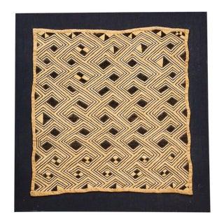 Hand Woven Antique Kuba Raffia Panel For Sale