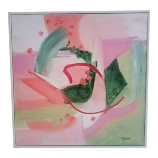 "Christine Frisbee ""Summer Bouquet"" Contemporary Abstract Painting For Sale"