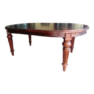 Thomasville Furniture Fredericksburg Mahogany Oval Leg Dining Table For Sale
