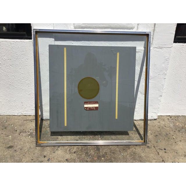 1980s Vintage 3D Framed Mirror For Sale - Image 9 of 11