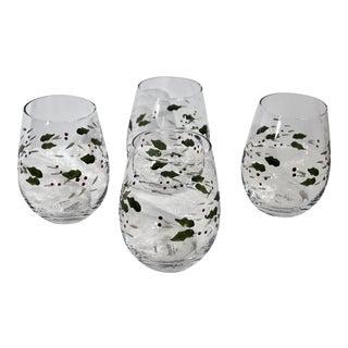 Pfaltzgraff Winterberry Stemless Wine Glasses - Set of 4 For Sale