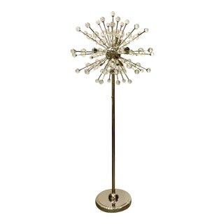 Mid-Century Modern Style Regina Andrew Constellation Chrome and Glass Sputnik Floor Lamp For Sale
