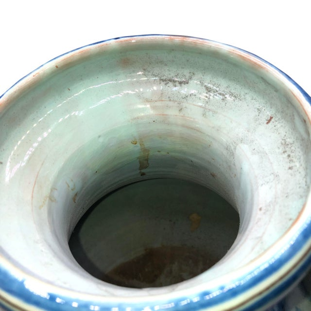 19th Century Antique Majolica Italian Urn For Sale - Image 5 of 9