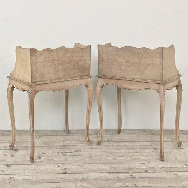 Pair Country French Provincial Nightstands For Sale - Image 12 of 13