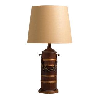 Single Wooden Paul Hansen Designed Table Lamp, 1950s For Sale