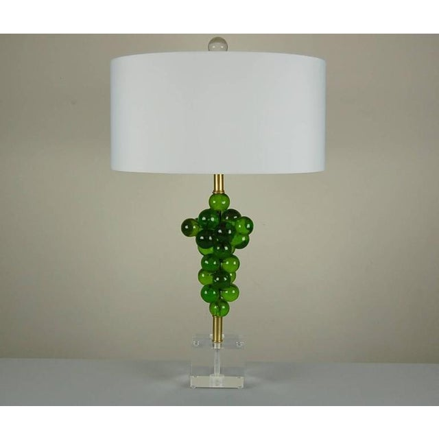 Italian Vintage Bubble Table Lamps by Silvano Pantani, 1966 Lime Green For Sale - Image 3 of 10