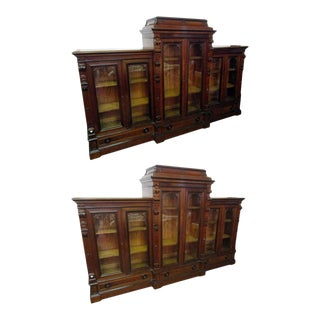 19th Century Herter Brothers Bookcases - a Pair For Sale