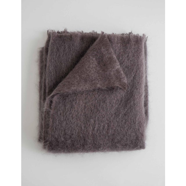 Mohair Throw in Amethyst For Sale - Image 13 of 13