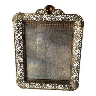 Hollywood Regency Ornate Jeweled Frame