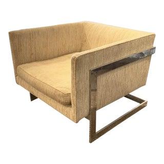 Mid Century Thayer Coggin, Milo Baughman Chrome Chair For Sale