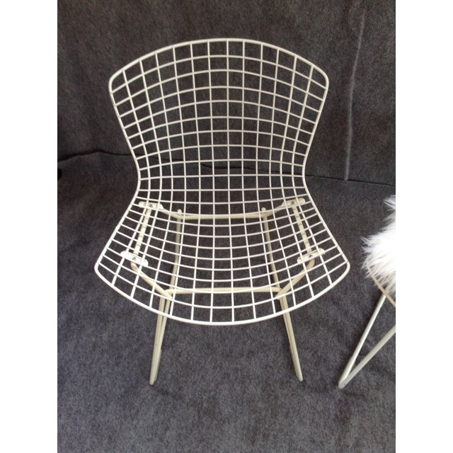 Vintage White Wire Knoll Bertoia Chairs - A Pair - Image 8 of 10