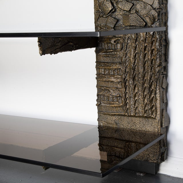 Paul Evans Sculpted Metal Shelving Unit, 1974 For Sale In New York - Image 6 of 13