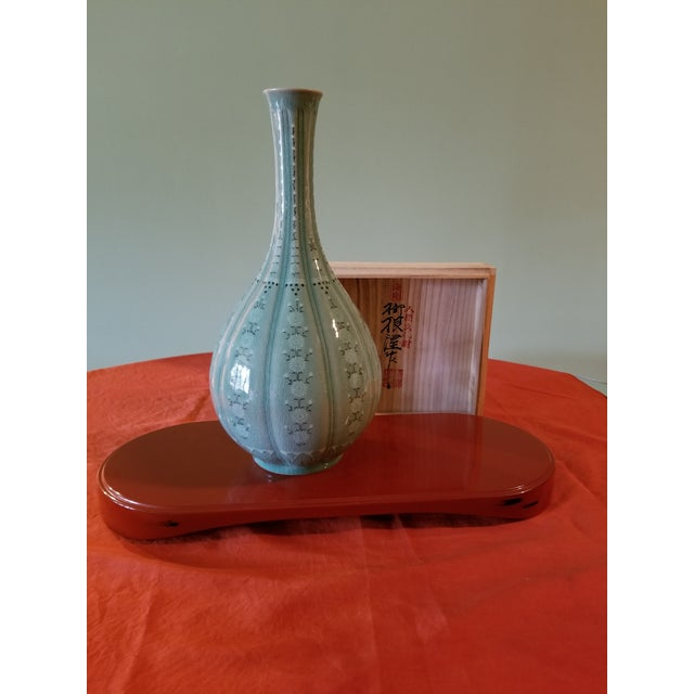 Green Korean Goryeo Style Celadon Green Glaze Ware by Yu Geun-Hyeong (柳 海剛 1894-1993) For Sale - Image 8 of 8
