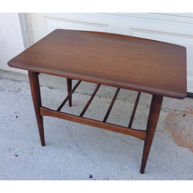 Danish Mid Century Modern Surfboard Side Table - Image 5 of 7