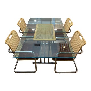 Mid Century Chromcraft Dining Table and Chairs - 5 Pieces For Sale