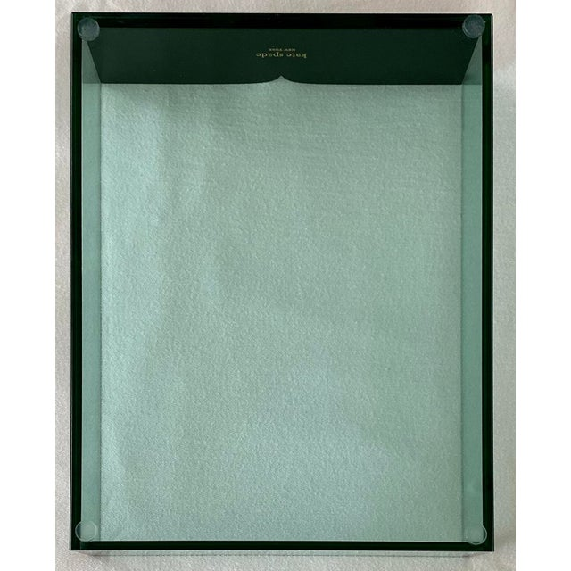 Kate Spade Kate Spade Green Lucite Desk Tray For Sale - Image 4 of 11