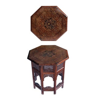 Anglo Indian Octagonal Side/Traveling Table With Brass and Copper Inlay Preview