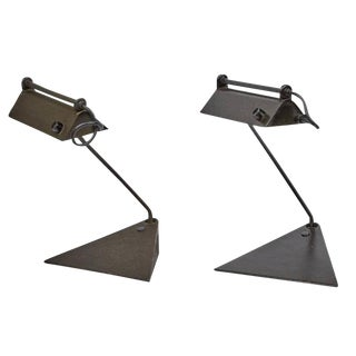 1960 Koch & Lowy Adjustable Desk Lamps - A Pair