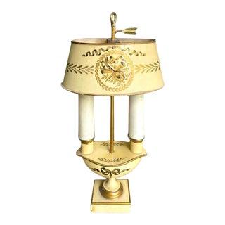 Mid Century Toleware Bouillotte Lamp For Sale