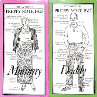 The Official Preppy Notepad Mummy & Daddy 1981 For Sale