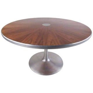Midcentury Pedestal Dining Table by Poul Cadovius for France and Son For Sale