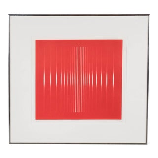 Mid-Century Optical Art Signed Serigraph Signed Finzi For Sale