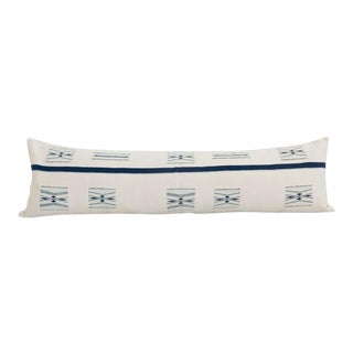 "Barrydale Lumbar Pillow In Ivory And Midnight - 48"" x 14"" For Sale"