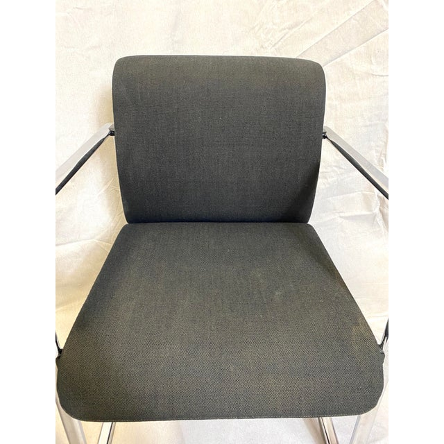 Herman Miller Marvelous Peter Protzman for Herman Miller Chrome Black Fabric Chairs - a Pair For Sale - Image 4 of 13