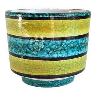 Mid Century Modern Italian Rosenthal Netter Pottery Planter For Sale