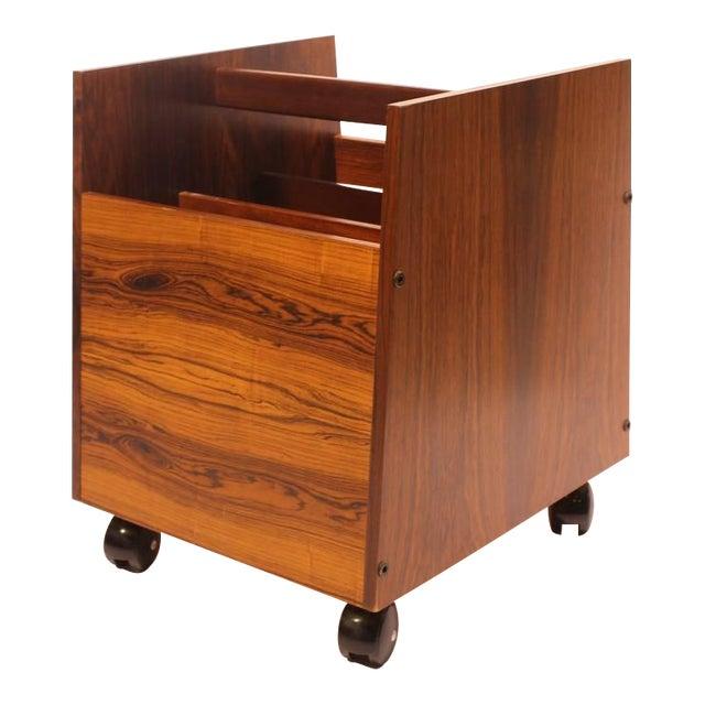 Wood Rolf Hesland for Bruksbo Mid-Century Rosewood Magazine Holder For Sale - Image 7 of 7