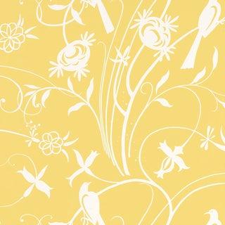 Schumacher Sky Meadow Wallpaper in Yellow For Sale